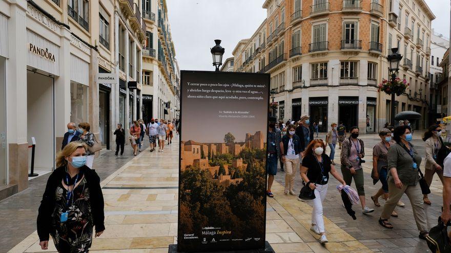 Exposiciones en la Costa del Sol: 'Málaga Inspira' en la calle Larios 1