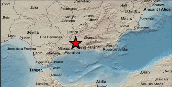 Dos terremotos y en menos de una hora en Granada enel límite con la Axarquía 1